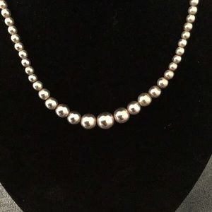 Jewelry - Sterling silver graduated bead necklace